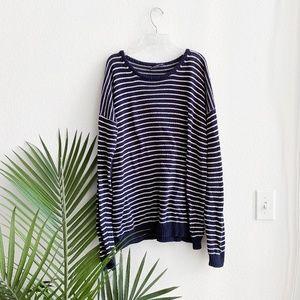 brandy melville / oversized knit striped sweater S